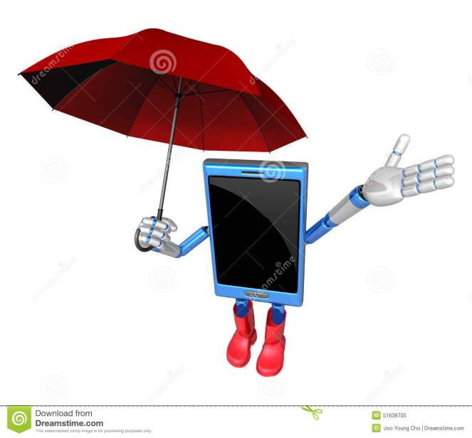 phone and umbrella